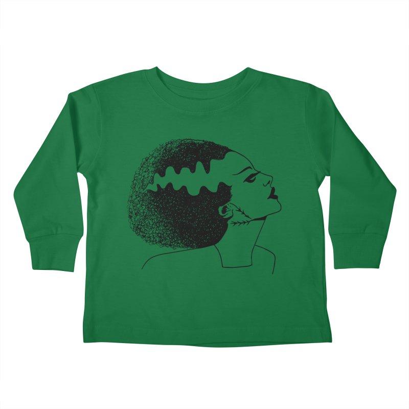Bride of Frankenstein Kids Toddler Longsleeve T-Shirt by Kate Gabrielle's Threadless Shop