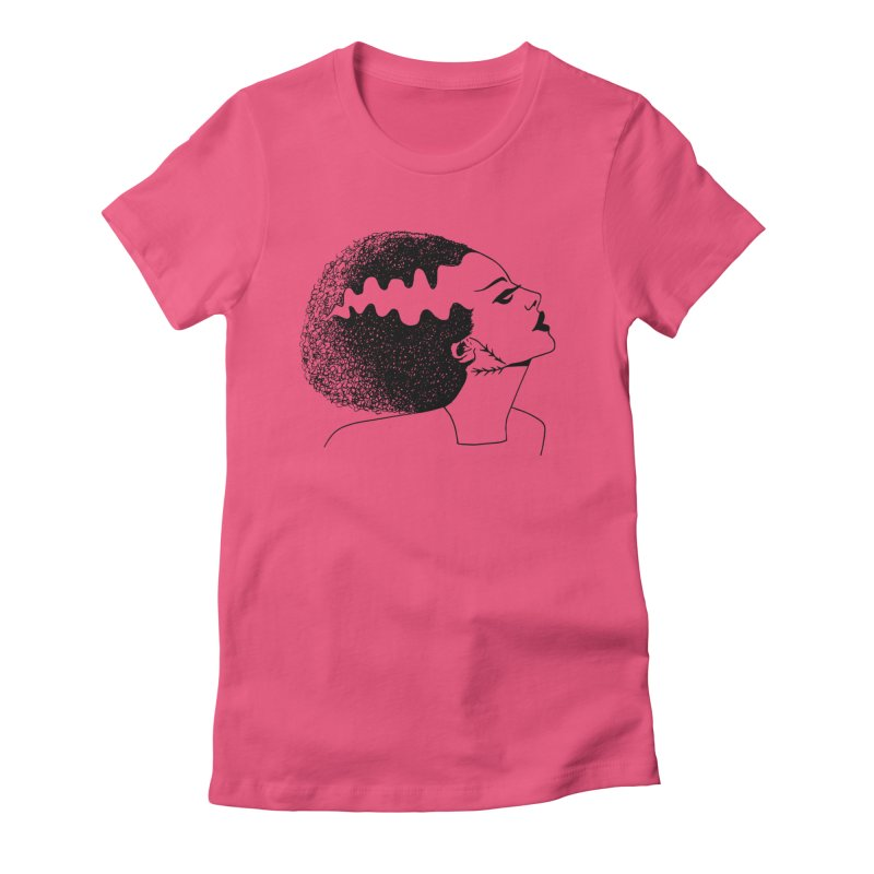 Bride of Frankenstein Women's Fitted T-Shirt by Kate Gabrielle's Threadless Shop