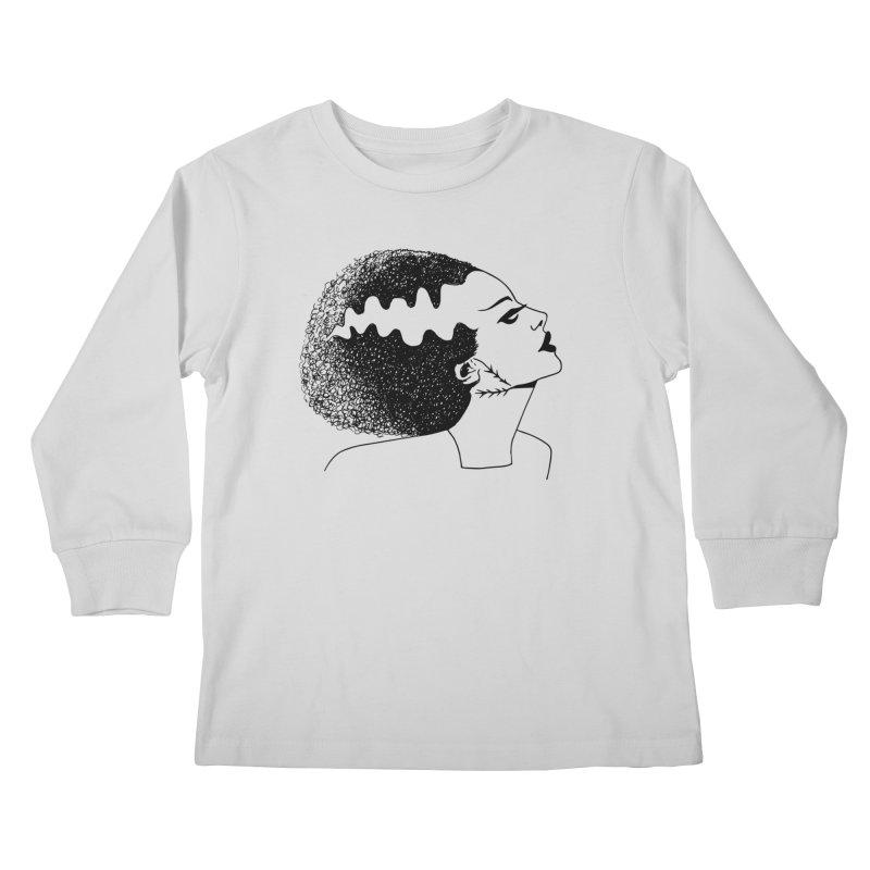 Bride of Frankenstein Kids Longsleeve T-Shirt by Kate Gabrielle's Threadless Shop
