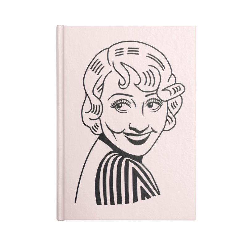 Joan Blondell Accessories Lined Journal Notebook by Kate Gabrielle's Threadless Shop