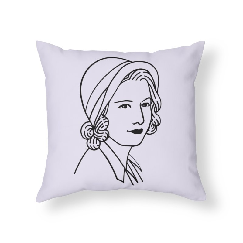 Baby Face Home Throw Pillow by Kate Gabrielle's Threadless Shop