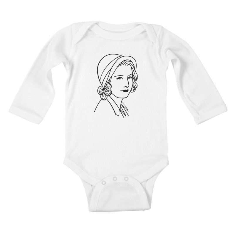 Baby Face Kids Baby Longsleeve Bodysuit by Kate Gabrielle's Threadless Shop