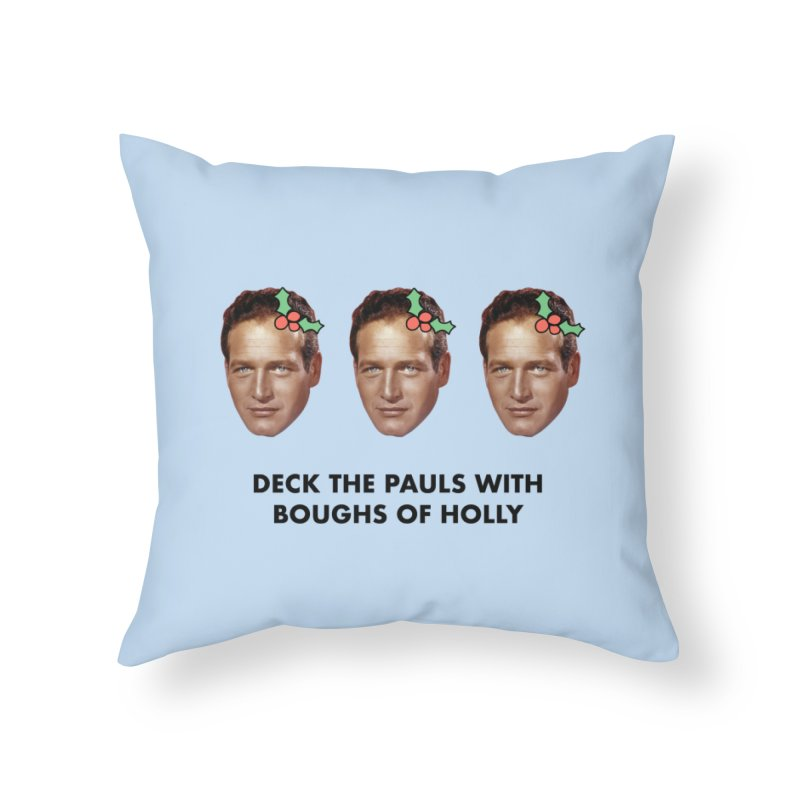 Deck the Pauls Home Throw Pillow by Kate Gabrielle's Threadless Shop
