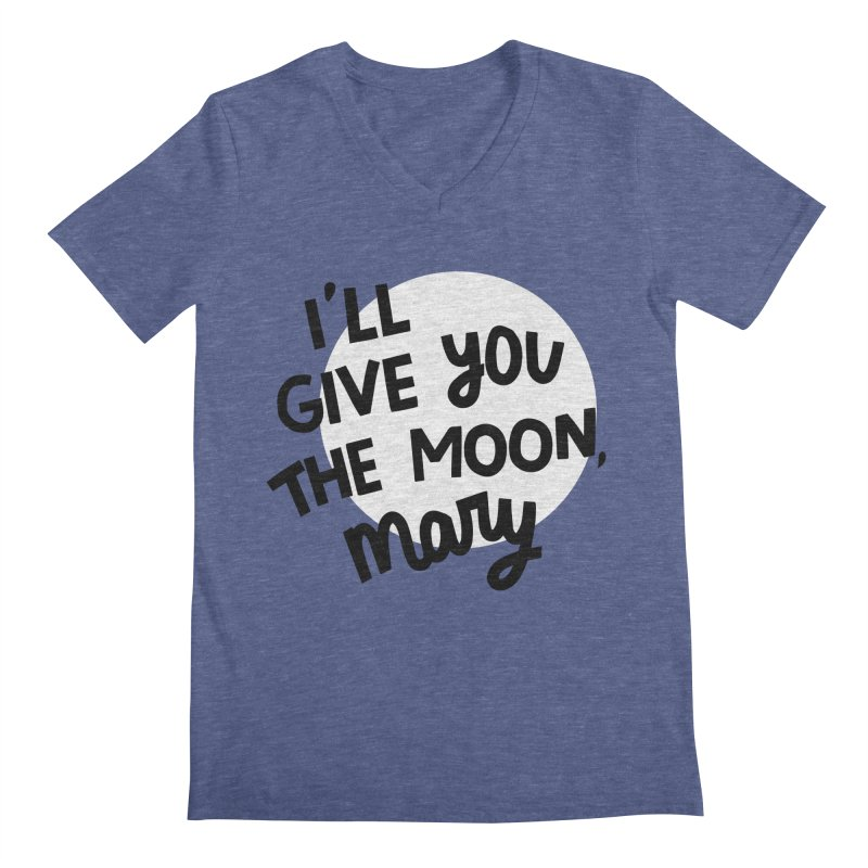 I'll give you the moon, Mary Men's Regular V-Neck by Kate Gabrielle's Threadless Shop