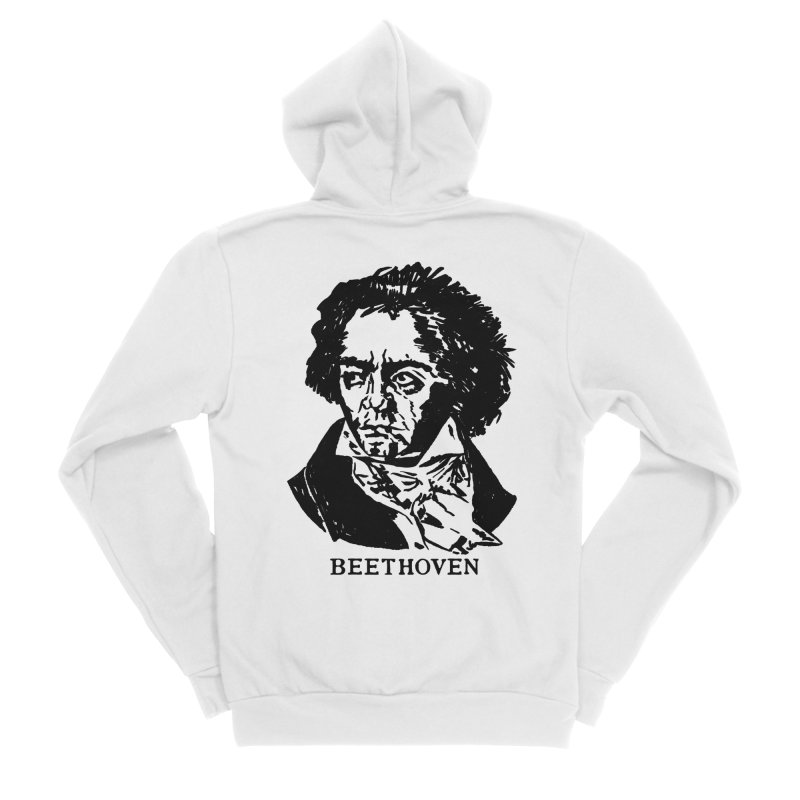 Beethoven Women's Sponge Fleece Zip-Up Hoody by Kate Gabrielle's Threadless Shop