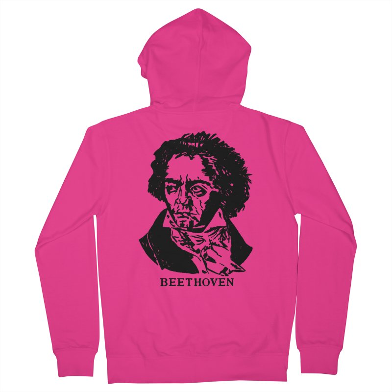 Beethoven Men's French Terry Zip-Up Hoody by Kate Gabrielle's Threadless Shop