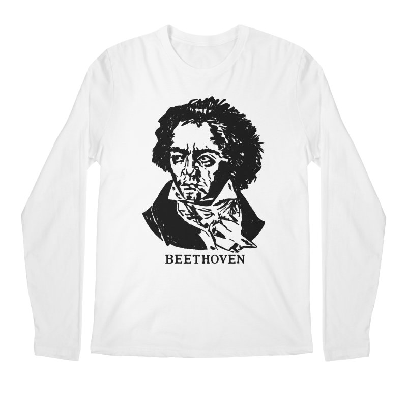 Beethoven Men's Regular Longsleeve T-Shirt by Kate Gabrielle's Threadless Shop