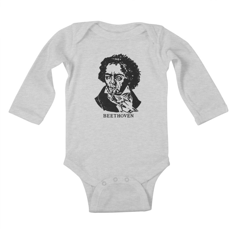 Beethoven Kids Baby Longsleeve Bodysuit by Kate Gabrielle's Threadless Shop
