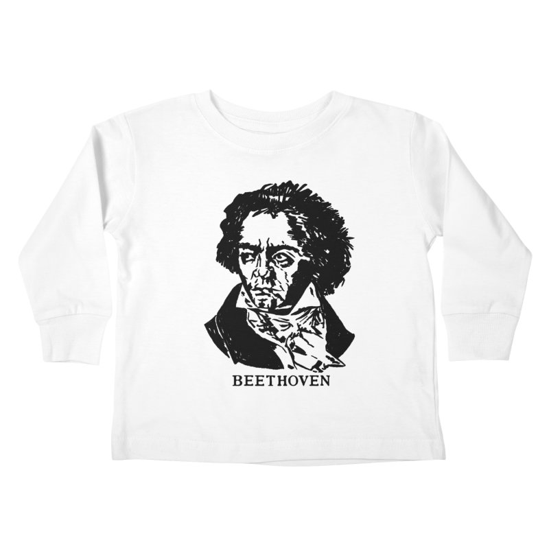 Beethoven Kids Toddler Longsleeve T-Shirt by Kate Gabrielle's Threadless Shop