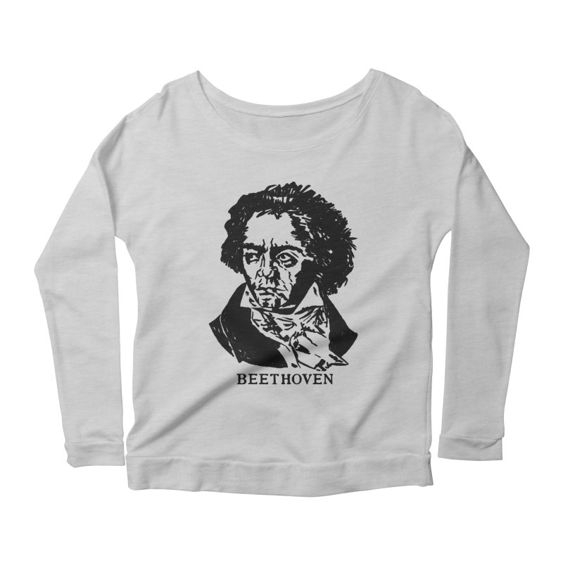 Beethoven Women's Scoop Neck Longsleeve T-Shirt by Kate Gabrielle's Threadless Shop