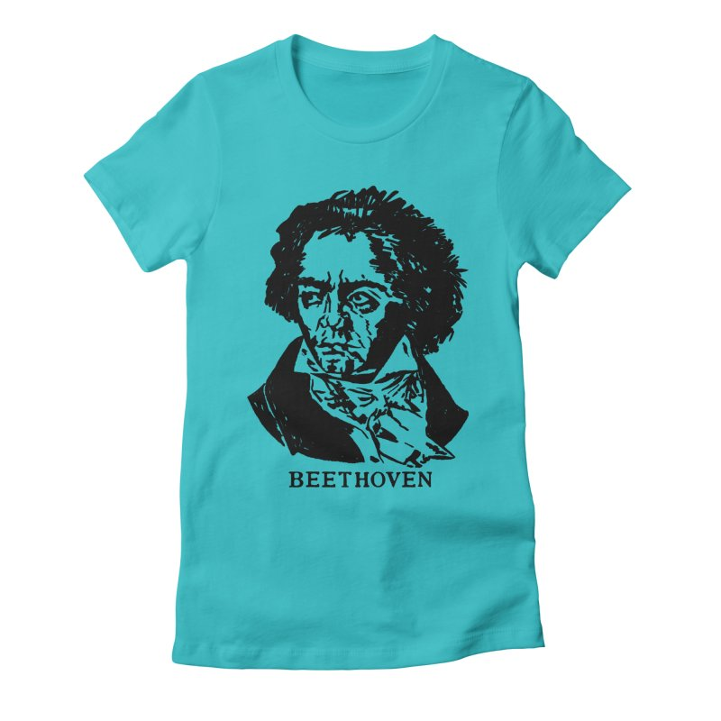 Beethoven Women's Fitted T-Shirt by Kate Gabrielle's Threadless Shop