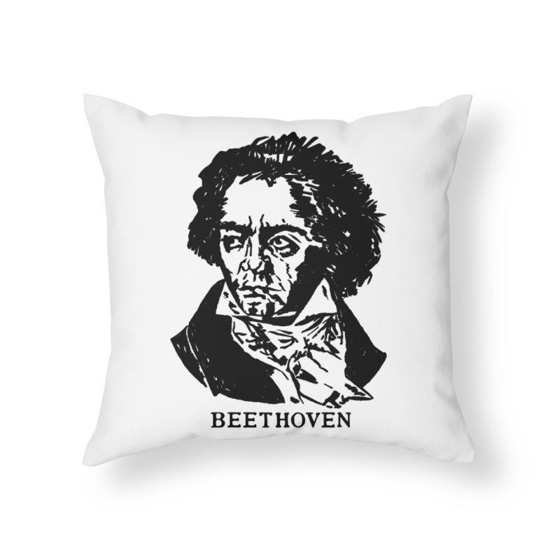 Beethoven Home Throw Pillow by Kate Gabrielle's Threadless Shop
