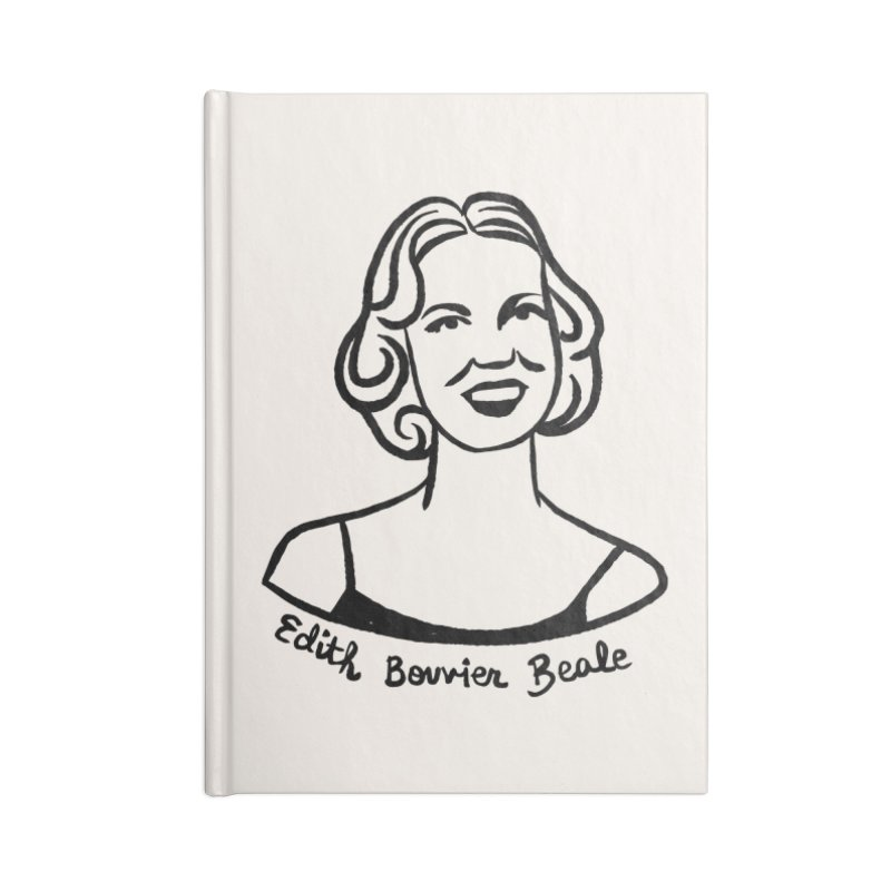 Edith Bouvier Beale Accessories Lined Journal Notebook by Kate Gabrielle's Threadless Shop