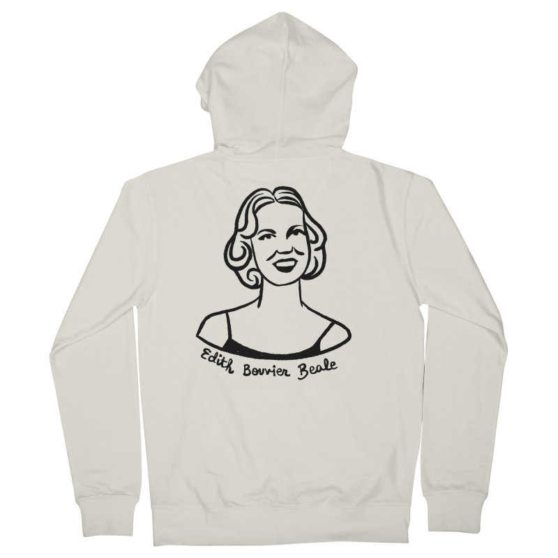 Edith Bouvier Beale Men's French Terry Zip-Up Hoody by Kate Gabrielle's Threadless Shop