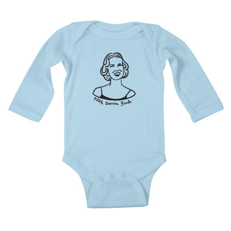 Edith Bouvier Beale Kids Baby Longsleeve Bodysuit by Kate Gabrielle's Threadless Shop
