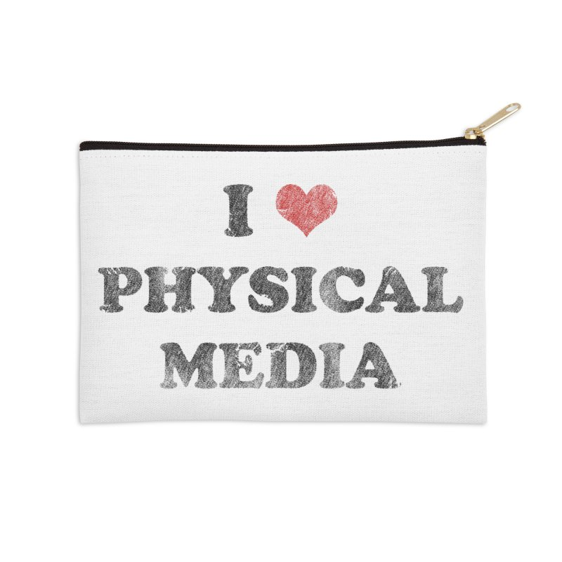 I love physical media Accessories Zip Pouch by Kate Gabrielle's Threadless Shop