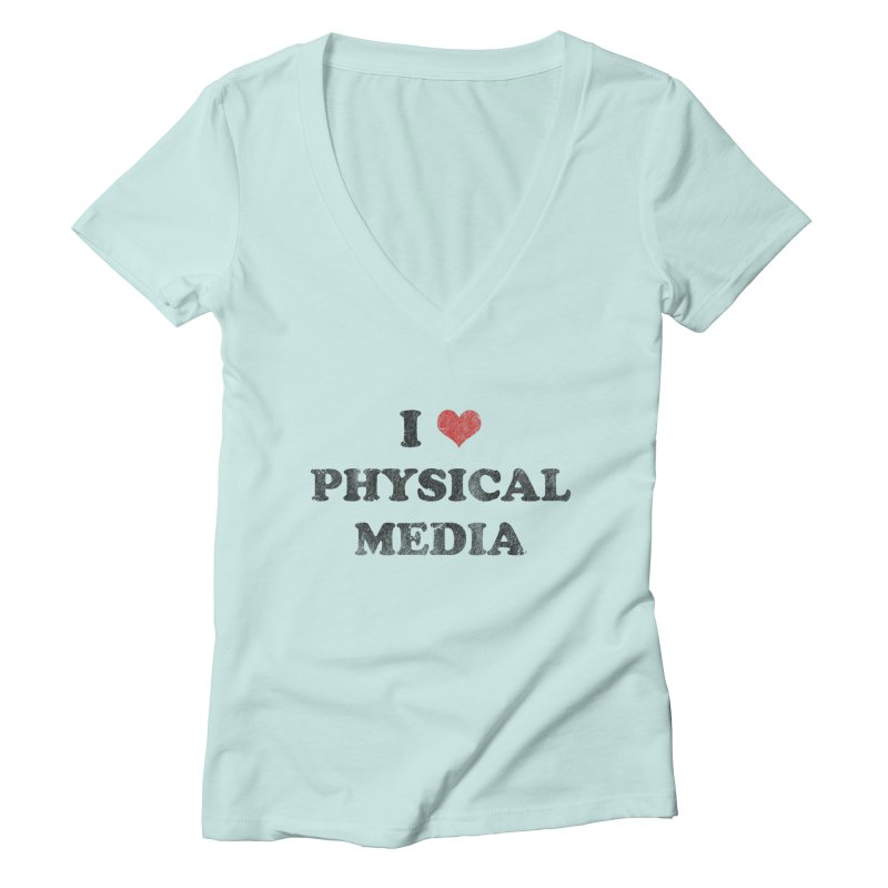 I love physical media Women's Deep V-Neck V-Neck by Kate Gabrielle's Threadless Shop