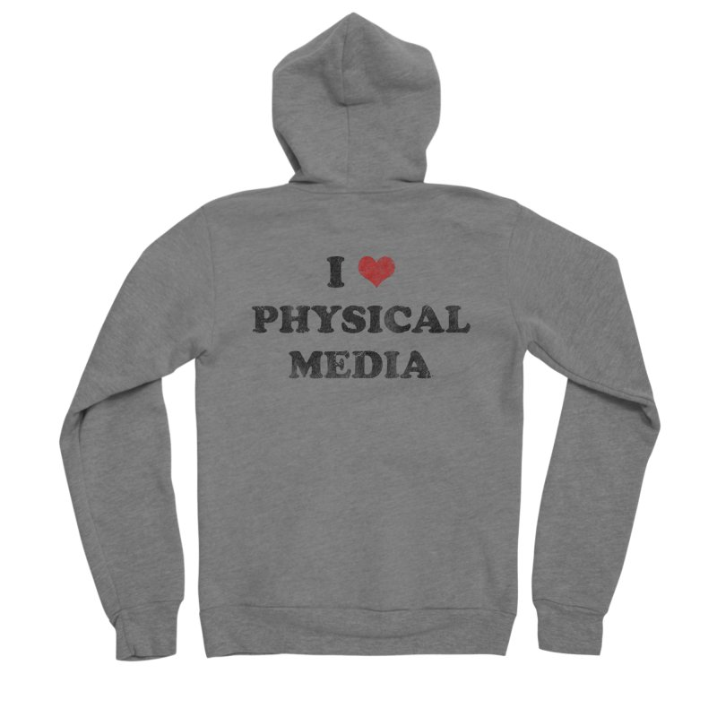 I love physical media Women's Sponge Fleece Zip-Up Hoody by Kate Gabrielle's Threadless Shop