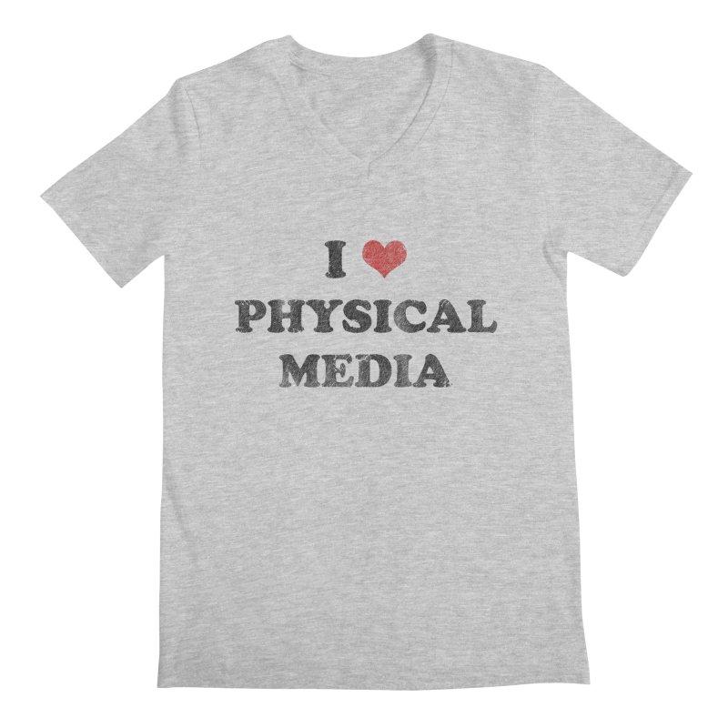 I love physical media Men's Regular V-Neck by Kate Gabrielle's Threadless Shop