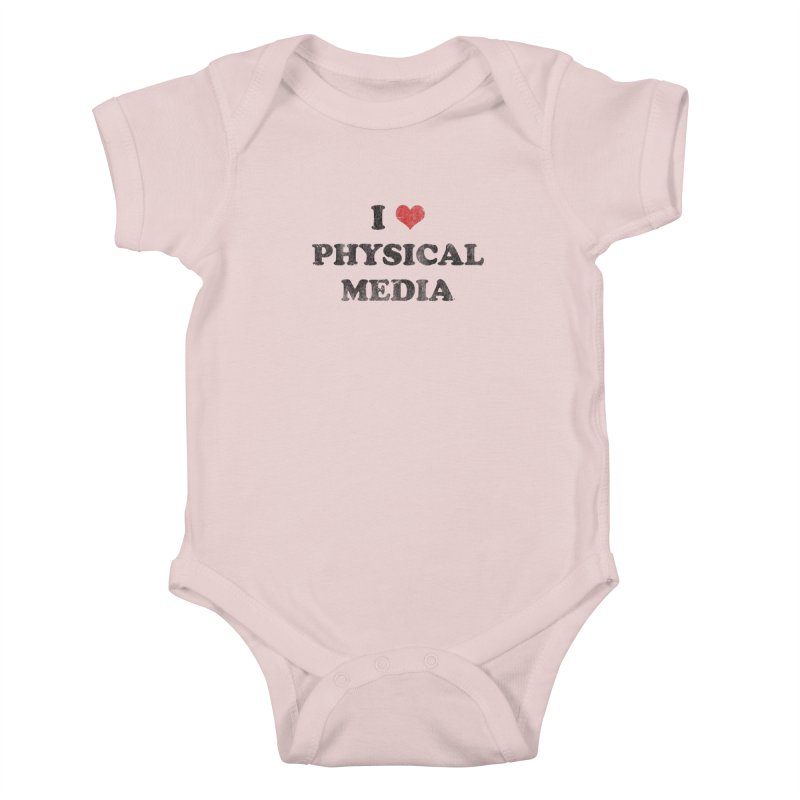 I love physical media Kids Baby Bodysuit by Kate Gabrielle's Threadless Shop