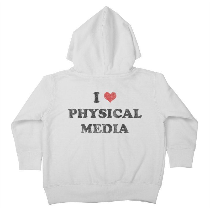 I love physical media Kids Toddler Zip-Up Hoody by Kate Gabrielle's Threadless Shop