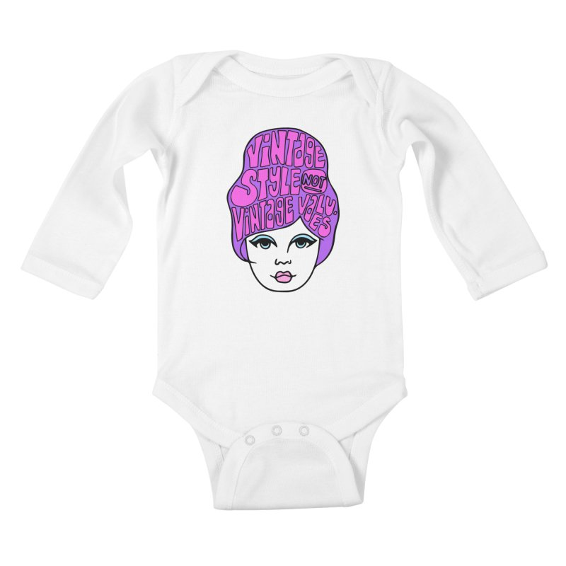 Vintage style NOT Vintage Values Kids Baby Longsleeve Bodysuit by Kate Gabrielle's Threadless Shop