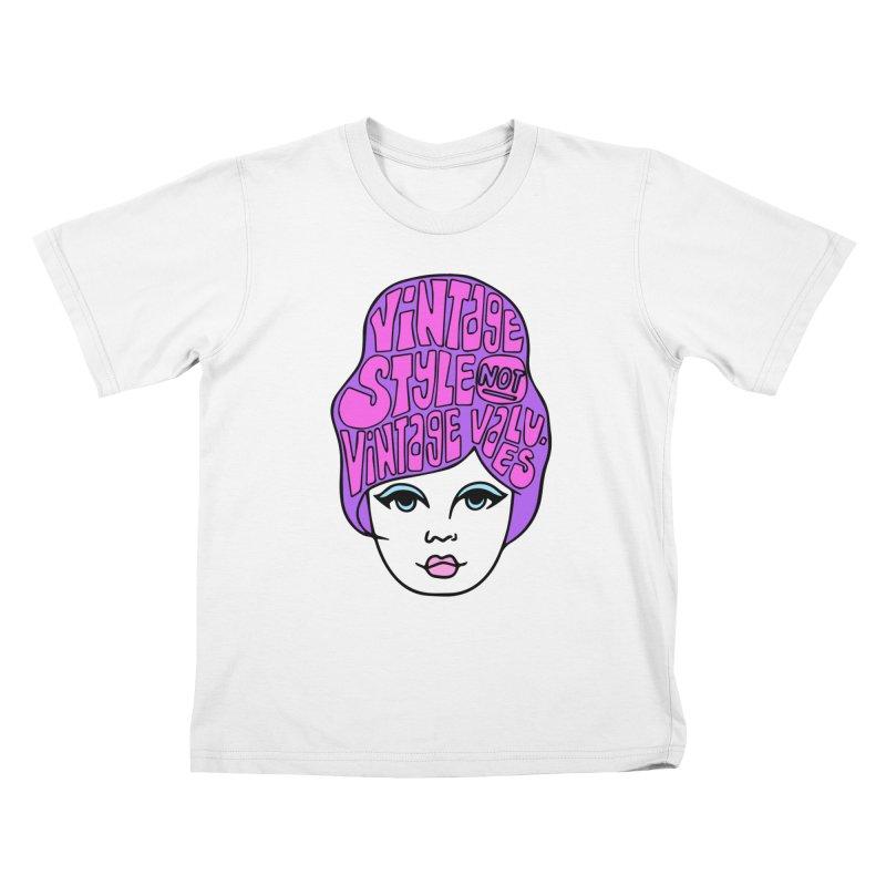 Vintage style NOT Vintage Values Kids T-Shirt by Kate Gabrielle's Threadless Shop