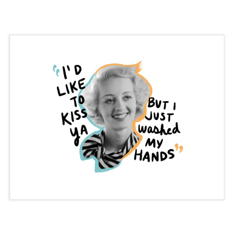 I'd like to kiss ya Home Fine Art Print by Kate Gabrielle's Threadless Shop