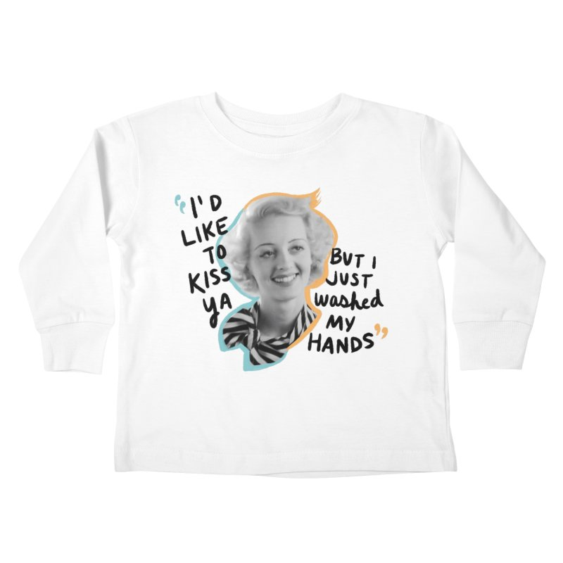 I'd like to kiss ya Kids Toddler Longsleeve T-Shirt by Kate Gabrielle's Threadless Shop
