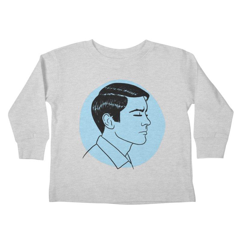 Alain Delon Kids Toddler Longsleeve T-Shirt by Kate Gabrielle's Threadless Shop