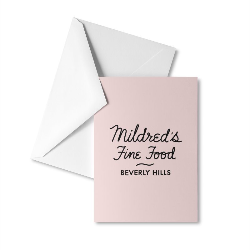 Mildred's Accessories Greeting Card by Kate Gabrielle's Threadless Shop