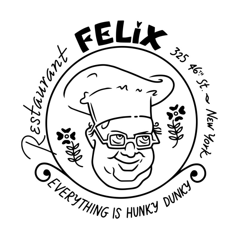 Restaurant Felix Home Stretched Canvas by Kate Gabrielle's Threadless Shop