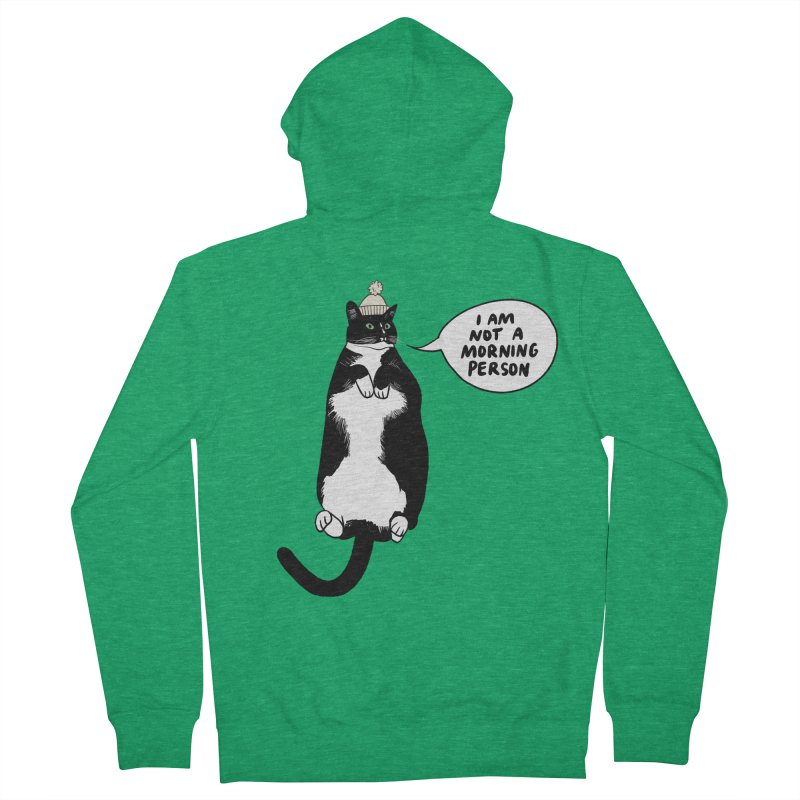 Not a morning person Men's Zip-Up Hoody by Kate Gabrielle's Threadless Shop