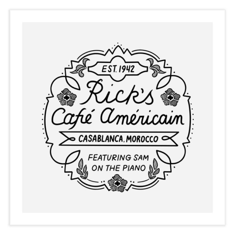 Rick's Cafe Home Fine Art Print by Kate Gabrielle's Threadless Shop