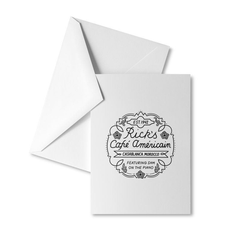 Rick's Cafe Accessories Greeting Card by Kate Gabrielle's Threadless Shop