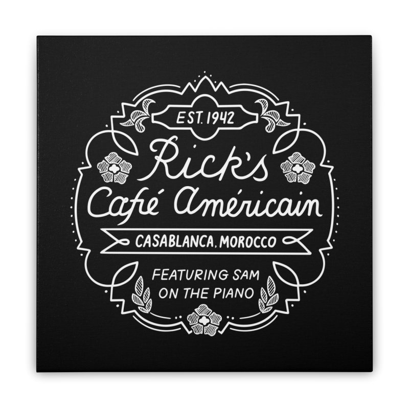 Rick's Cafe Home Stretched Canvas by Kate Gabrielle's Threadless Shop