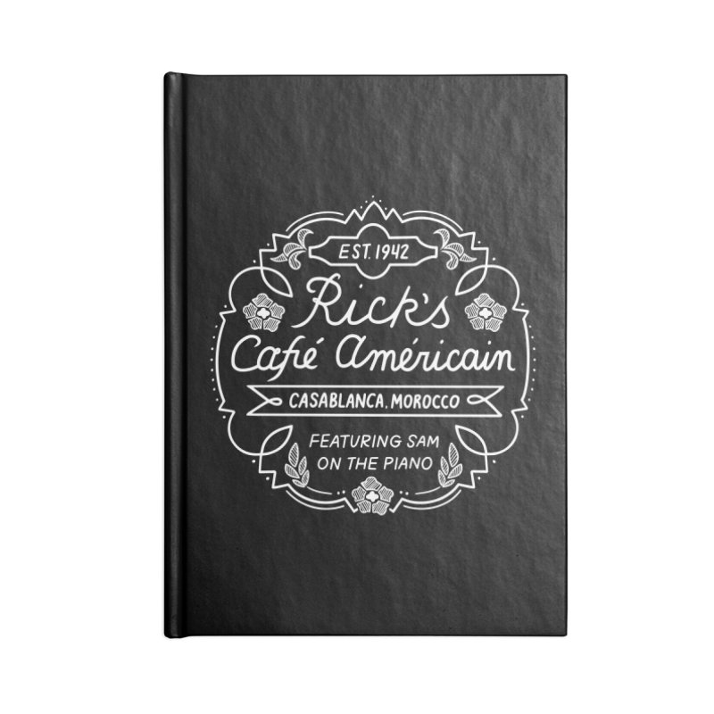 Rick's Cafe Accessories Notebook by Kate Gabrielle's Threadless Shop