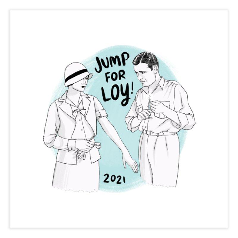 Jump for Loy! Home Fine Art Print by Kate Gabrielle's Threadless Shop