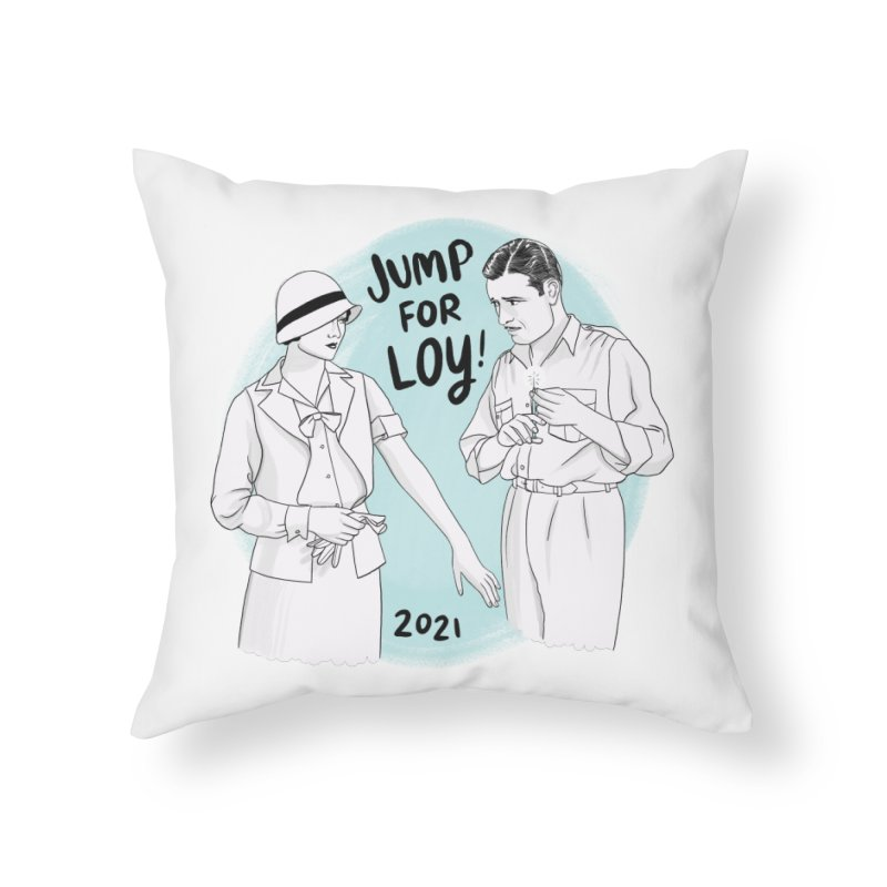 Jump for Loy! Home Throw Pillow by Kate Gabrielle's Threadless Shop