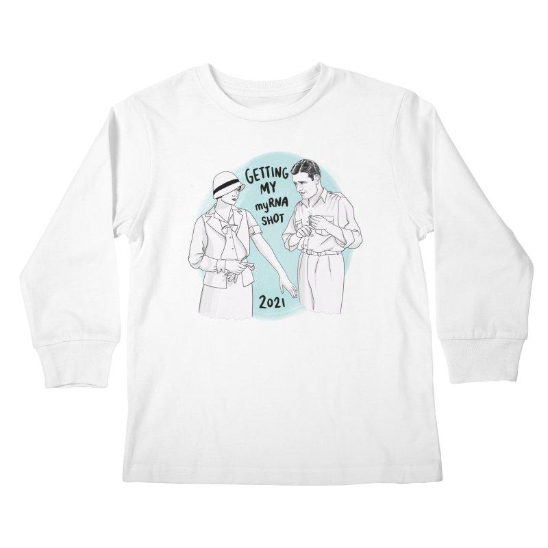 Getting my myRNA shot Kids Longsleeve T-Shirt by Kate Gabrielle's Threadless Shop