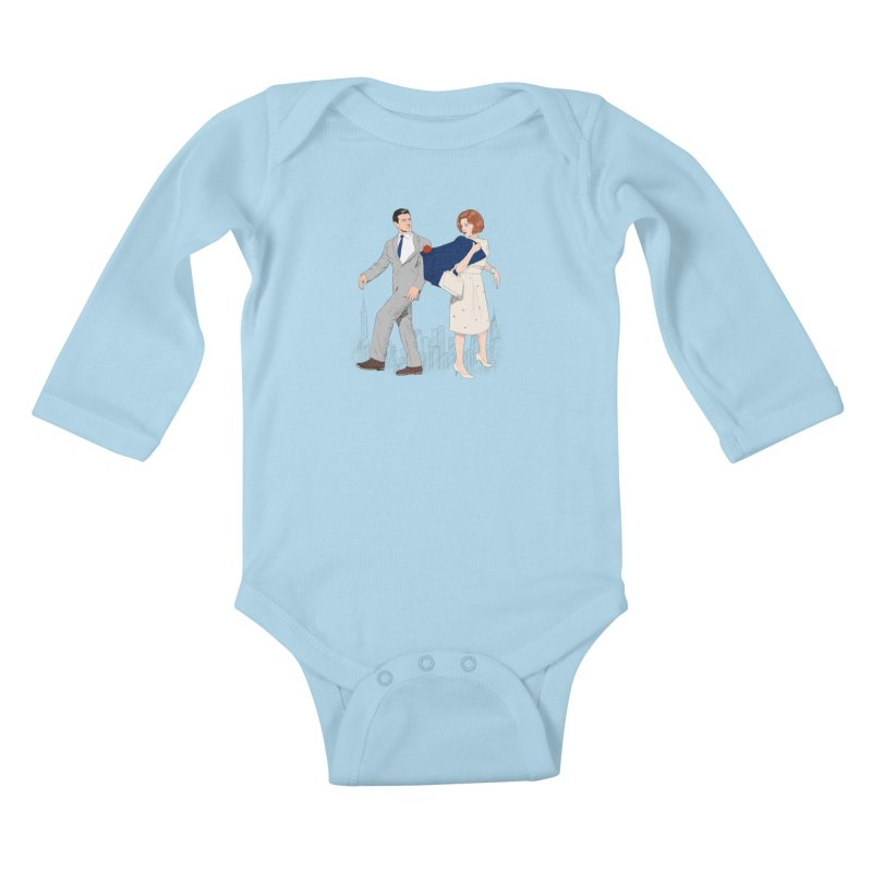 Sunday in New York Kids Baby Longsleeve Bodysuit by Kate Gabrielle's Threadless Shop
