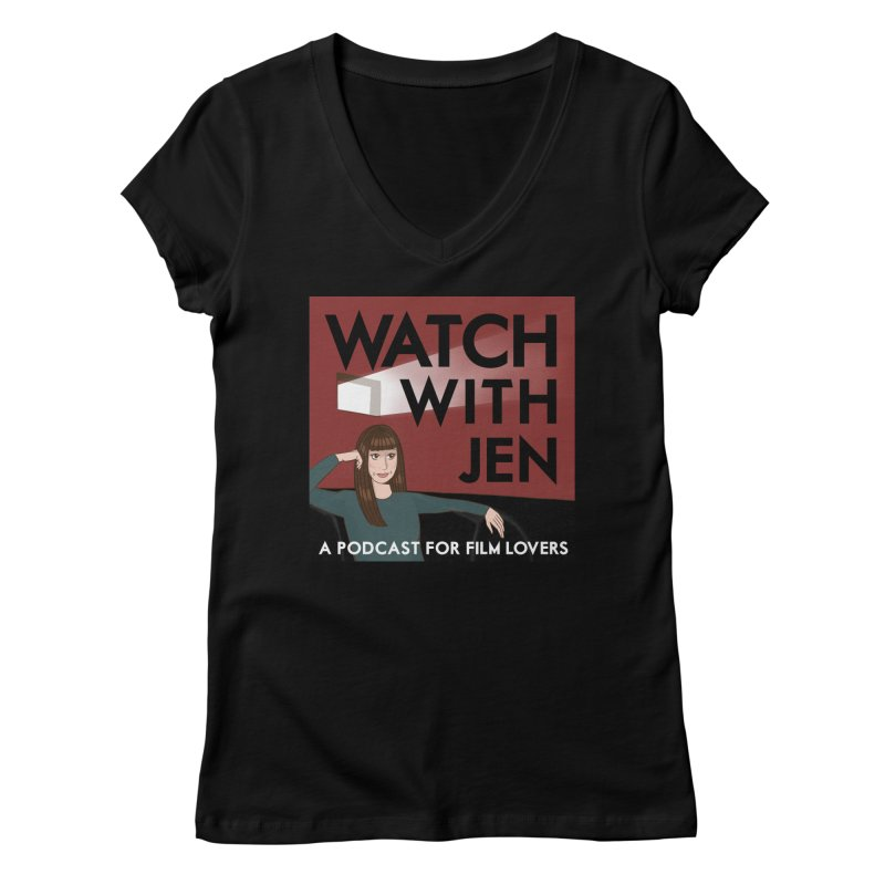 Watch With Jen Women's V-Neck by Kate Gabrielle's Threadless Shop