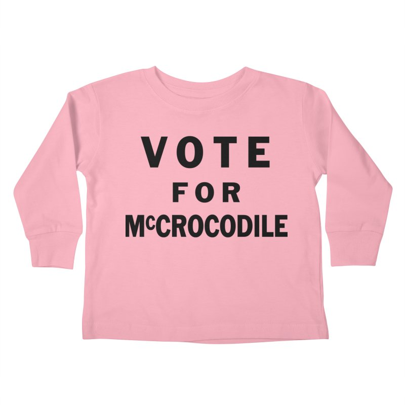 Vote for McCrocodile Kids Toddler Longsleeve T-Shirt by Kate Gabrielle's Threadless Shop