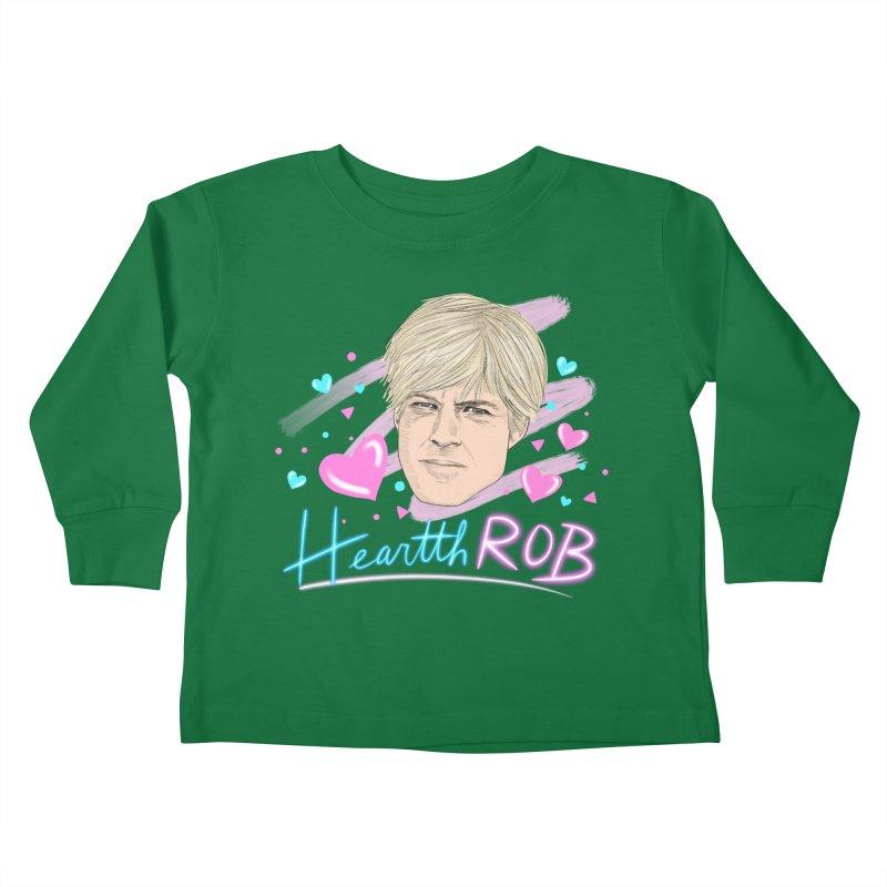 HeartthROB Redford Kids Toddler Longsleeve T-Shirt by Kate Gabrielle's Threadless Shop