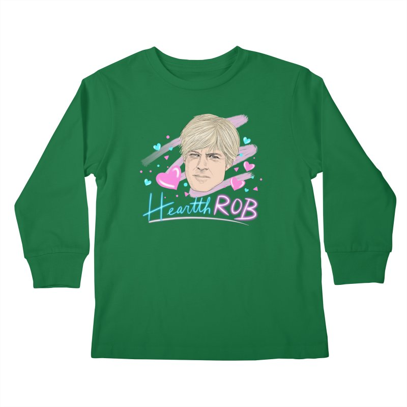 HeartthROB Redford Kids Longsleeve T-Shirt by Kate Gabrielle's Threadless Shop