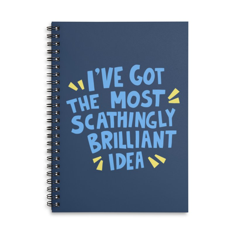 Scathingly Brilliant Accessories Lined Spiral Notebook by Kate Gabrielle's Threadless Shop
