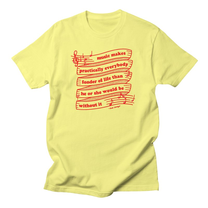 Music Men's T-Shirt by Kate Gabrielle's Threadless Shop