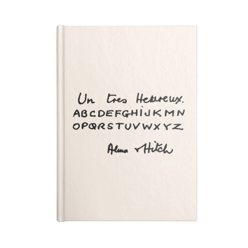 Hitchcock Noel Accessories Notebook by Kate Gabrielle's Artist Shop