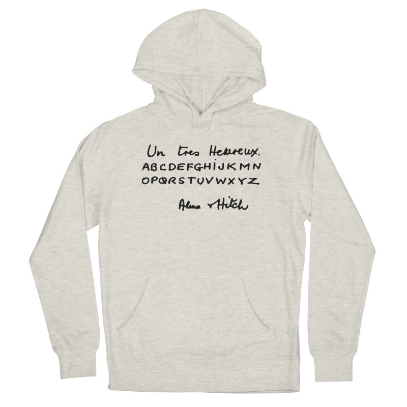 Hitchcock Noel Women's French Terry Pullover Hoody by Kate Gabrielle's Artist Shop