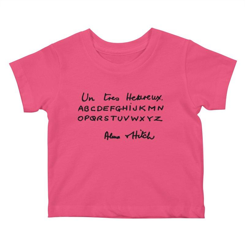 Hitchcock Noel Kids Baby T-Shirt by Kate Gabrielle's Artist Shop